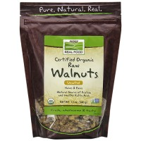 Nowfoods walnuts unsalted halves and pieces - 12 oz