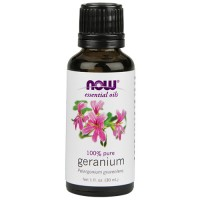 Now Foods 100 percent pure geranium oil - 1 oz