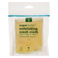 Earth therapeutics loofah super exfoliating wash cloth - 1 ea