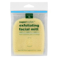 Earth Therapeutics Loofah Super Exfoliating Facial Mitt - 1 ea