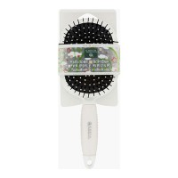 Earth therapeutics hair brush paddle  silicon white - 1 ea