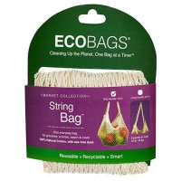 Natural cotton string bag tote handle natural - 1 ea