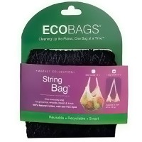 ECOBAGS Products Market Collection String Bag, 22 inches Black - 1 ea, 10 bags