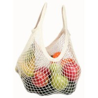 Eco bags products string bag tote handle natural, organic cotton - 1 ea
