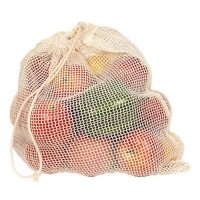 Eco bags products net sack produce bag organic cotton - 1 ea