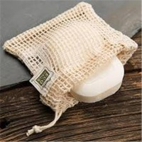 Eco bags natural cotton soap bag - 1 ea