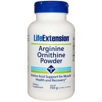 LifeExtension Arginine ornithine powder - 5.29 oz