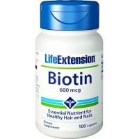 LifeExtension Biotin 600 mcg - 100 ea