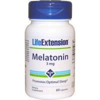 LifeExtension Melatonin 3 mg capsules - 60 ea