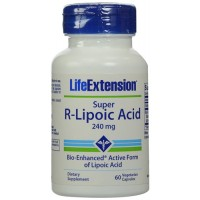 LifeExtension super R Lipoic acid 240 mg vegetarian capsules - 60 ea