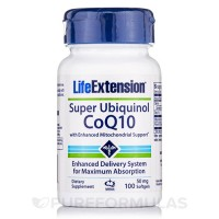 LifeExtension super ubiquinol 50 mg softgels - 100 ea