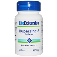 LifeExtension Huperzine A 200 mcg enhances memory, veg caps - 60 ea