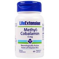 LifeExtension Methyl Cobalamin 5 mg vitamin B12, veg caps - 60 ea