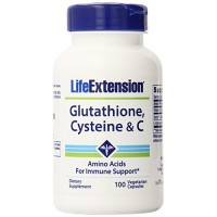 LifeExtension Glutathione, Cysteine and C for Immune support, veg capsules - 100 ea