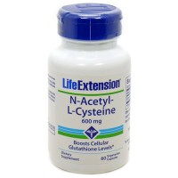 LifeExtension N Acetyl L Cysteine 600 mg veg capsules - 60 ea