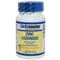 LifeExtension Zinc Lozenges nutritional support capsules - 60 ea
