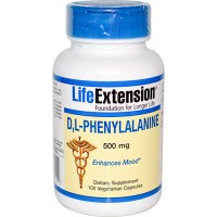 LifeExtension D L Phenylalanine 500 mg veg caps - 100 ea