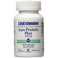 LifeExtension Iron protein plus 300mg capsule - 100 ea