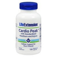 LifeExtension Cardio Peak with standardized Hawthorn and Arjuna, veg capsules - 120 ea