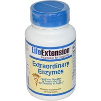 LifeExtension Extraordinary Enzyme facilitates digestion of protein caps - 60 ea