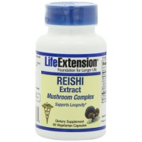 LifeExtension Reishi Extract mushroom complex veg caps - 60 ea