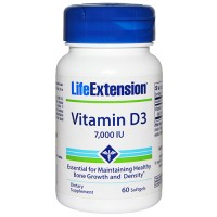 LifeExtension vitamin D3 7000 IU for bone browth softgels - 60 ea