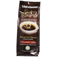 LifeExtension Rich Rewards breakfast blend coffee, Vanilla - 12 oz