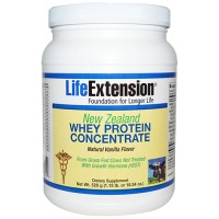 LifeExtension New Zealand Whey protein concentrate, Vanilla flavor - 18.34 oz