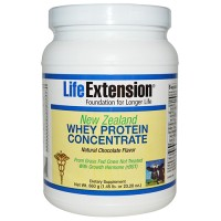 LifeExtension New Zealand Whey protein concentrate, Chocolate flavor - 18.34 oz