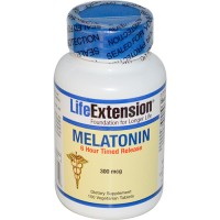 LifeExtension Melatonin 300 mcg Vegeterian Tablets - 100 ea