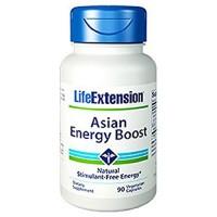 LifeExtension Asian energy boost vegetarian capsules - 90 ea