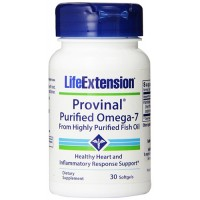 LifeExtension Provinal purified omega-7 from highly purified fish oil softgels - 30 ea