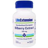 LifeExtension Standardized european bilberry extract 100 mg vegetarian capsules - 90 ea