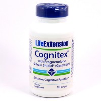 LifeExtension Cognitex with pregnenolone and brain shield(Gastrodin) softgels - 90 ea