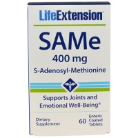 LifeExtension SAMe 400 mg s-adenosyl-methionine entric coated tablets - 60 ea