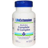 LifeExtension BioActive complete B-complex vegetarian capsules - 60 ea