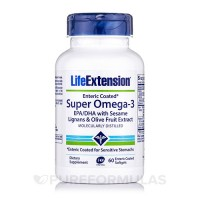 LifeExtension Super omega-3 EPA/DHa with sesame lignans and olive fruit extract softgels - 60 ea