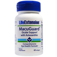 LifeExtension MacuGuard ocular support with astaxanthin softgels - 60 ea