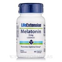 LifeExtension Melatonin 3 mg, vegetarian lozenges - 60 ea