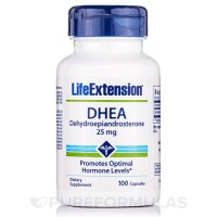 LifeExtension DHEA dehydroepiandrosterone capsules - 100 ea