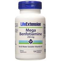 LifeExtension Mega Benfotiamine 250 mg Vegetarian Capsules - 120 ea