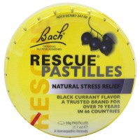 Bach Original Flower Essences rescue pastilles black currant, 1.7 oz, 12 pack