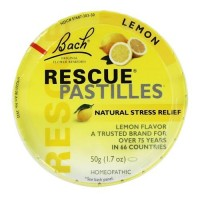 Bach Original Flower Remedies Rescue Pastilles, Lemon Flavor, 1.7 oz ,12 pack