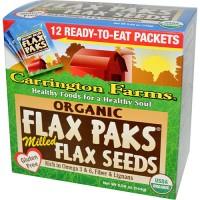 Carrington farms organic flax paks flax seeds -  12 ea