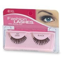 Ardell fashion lashes strip lashes #101 demi black - 4 ea