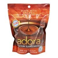 Adora calcium supplement disk, 500 mg organic milk chocolate - 30 ea, 12 pack