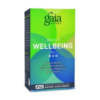 Gaia Herbs Daily Wellbeing Supplement for Men, immune health - 60 ea