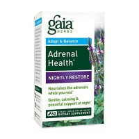 Gaia Herbs Adrenal Health Nightly Restore Supplement, adrenal health - 60 ea