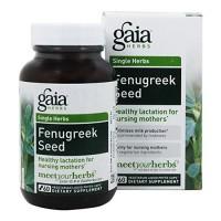 Gaia Herbs Fenugreek Seed, nursing mothers - 60 ea