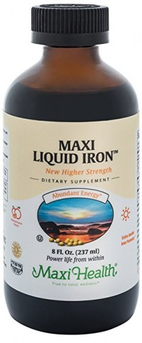Maxi health liquid iron fruit punch - 8 oz